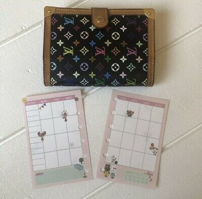 Agenda-PM-Mini-Inserts-Monthly-Weekly-Refills Fits Louis Vuitton PM Agenda #003