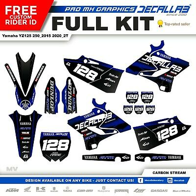 YAMAHA YZ 125/250 2015 2016 2017 2018 MX Graphics Decals Stickers Decallab