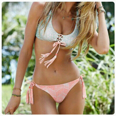 Women Push-up Padded Bra Bandage Bikini Set Swimsuit Triangle Swimwear Bathing