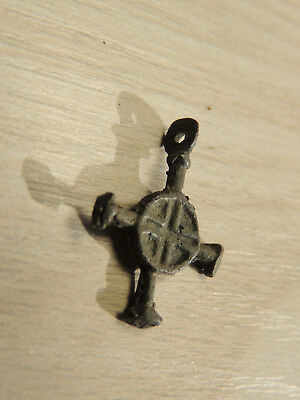 Antique Genuine Knights Templar Bronze Cross Pendant