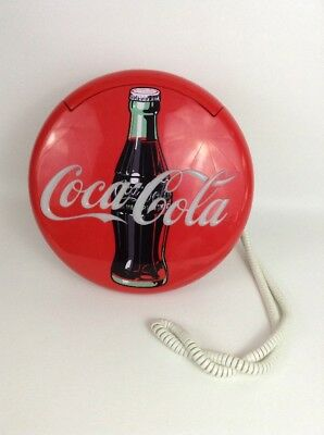 Vintage 1995 Coca Cola Telephone Collectible Light-up Phone Bottlecap Soda Pop