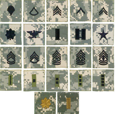 New ACU Digital Military Army 2x2 Sew On Rank Enlisted & Officer