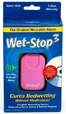 Wet-Stop3 Pink Bedwetting Enuresis Alarm with Loud Sound and Strong Vibration...