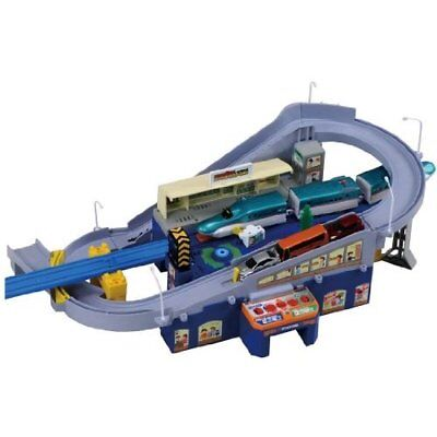 TAKARA TOMY PLARAIL TOMICA SUPER AUTO STATION NEW from Japan with Tracking