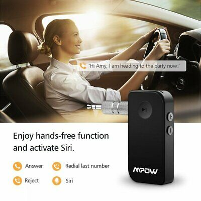 MPOW Wireless Bluetooth 3.5mm AUX Audio Stereo Music Car Receiver Adapter Mini