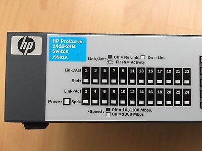 HP ProCurve 1410-24G J9561A 24Port Gigabit Switch (Port 8,15,16 - defekt?!)