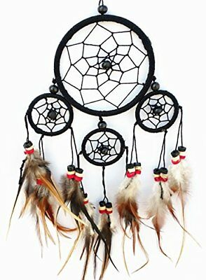 Handmade Traditional Dream Catcher with Feathers Hanging Decor Ornament gift Bag