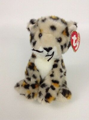 2005 Ty Beanie Babies Safari 6 Spotter Cheetah Plush Stuffed Toy W