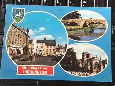 Greetings From Haddington Postcard, Posted 1984