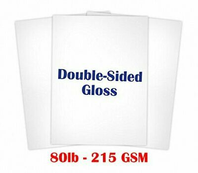 Double Sided Gloss Card stock Paper Size 8 1/2 X 11 - 50 Sheets