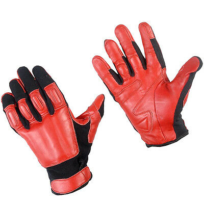 Genuine Sap Gloves Real Leather Red And Black Comfortable Steel Shot Size Xl
