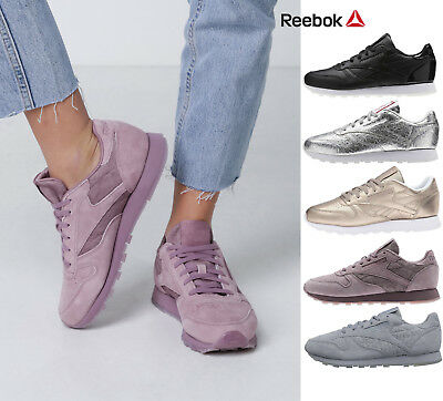 61525a93e648f Womens Reebok Classic Leather Retro Heritage Casual Sneakers Limited Edt NEW