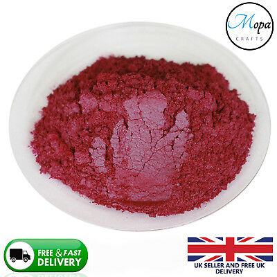 Cosmetic Mica Powder Raspberry Red Pigment Soap Bath Bombs  Nail Art Additive