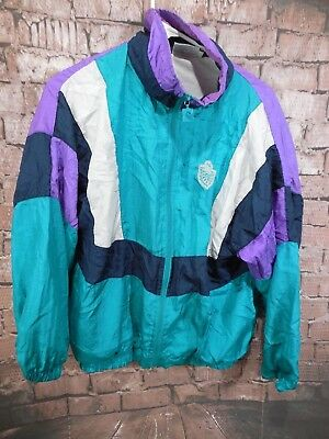 Vintage 90s Pierre Cardin Color Block Track Jacket Windbreaker Size M Unisex