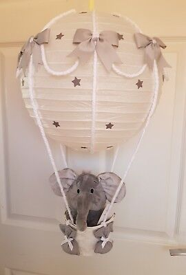 Hot air balloon light shade silver with a very cute elephant looks stunning ❤❤