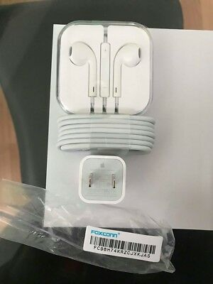 Apple OEM iPhone Headphones and Charger BUNDLE for iPhone 6 6s 7 & Plus - NEW