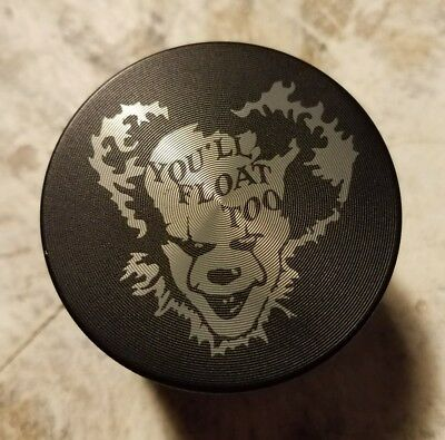 "Pennywise IT float themed 2"" 4 piece herb grinder - black"