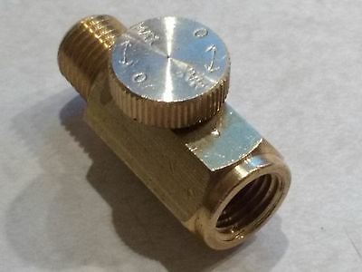 Air Gun Nozzle Flow Regulator Volume Control - MADE IN USA - Solid Brass