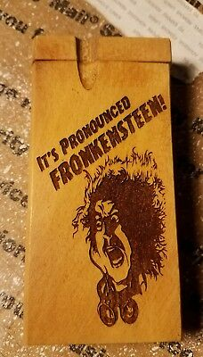 Young Frankenstein themed wood wooden dugout
