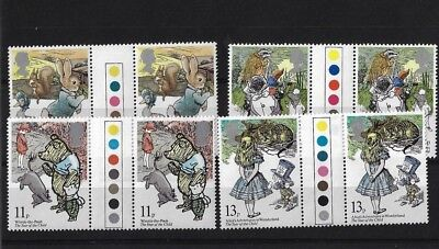 Gb Sg1091/4, 1979 International Year Of The Child Traffic Light Gutter Pairs Mnh