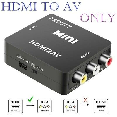 HDMI to 3 RCA CVBS Full HD Video 1080P AV Scart Composite Converter Adapter