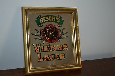 Very rare original Reschs Vienna Lager mirror by rousell in exellent cond