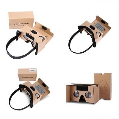 3D Glasses Google Cardboard,Topmaxions VR Virtual Reality DIY Headset For Movies