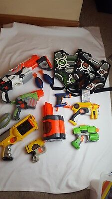 Large nerf gun bundle with body scoring body armour