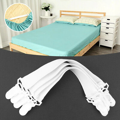 4X Bed Sheet Buckle Mattress Blankets Grippers Clip Holder Elastic Fasteners