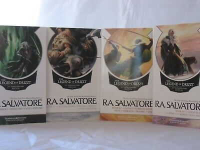 Legend of Drizzt #1-13: 25th Anniversary Editions by R.A. Salvatore (4 Book Set)