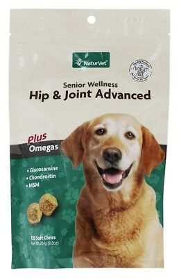 NaturVet - Wheat-Free Senior Wellness Treats Hip & Joint Advanced Plus Omegas -