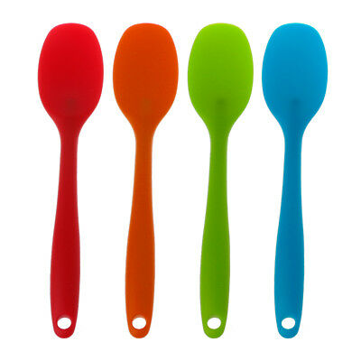 Silicone Mixing Spoon Utensil Cake Putty Spatula Bakeware Home Tableware