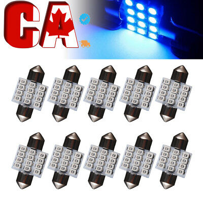 10 PCS Car T10 White LED 5-smd Wedge Light Bulb W5W 194 168 2825 158 192