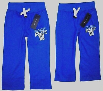 NWT TOMMY HILFIGER Boys Cotton Sweat Pants BLUE Jean Toddler 3T or Kids Child 4