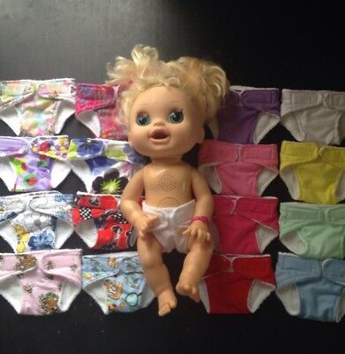 Homemade Baby Alive Nappy - 16 Pattern Choices