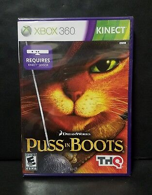 Puss in Boots (Microsoft Xbox 360, 2011) Brand New Factory Sealed
