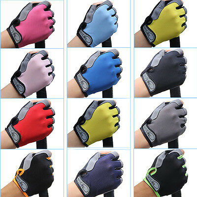 Road MTB Bike Bicycle Cycling GEL Padded Half Finger Gloves Sports - Fingerless