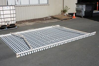 3.6m Rectangular Outdoor Green White Striped Awning - Used