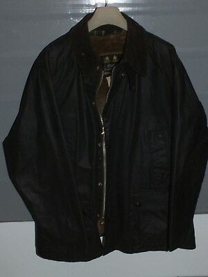 barbour bedale jacket waxed cotton + pile lining green 100%authentic c48/122 XL