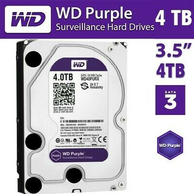 "GENUINE Western Digital 4TB Purple Surveillance HDD 3.5"" Hikvision Hard Drive"