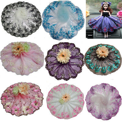 1yard delicate mesh embroidered flower tulle lace trim for DIY sewing homemade
