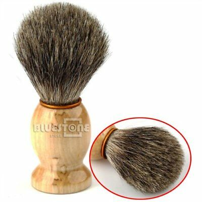 100% Pure Badger Barber Hair Shaving Brush With Wood Handle Tool For Men's Gift