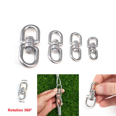 StaInless Steel MarIne MooRing Eye to Eye Swivel Ring Dog Chain Connect Buckle C