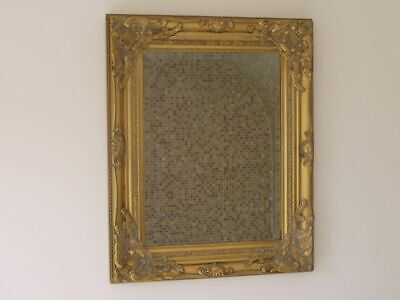 Aged Look Wall Mirror French Country Window Arch Rectangle Wood Metal Frame NEW