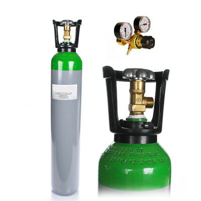MIX Argon 82% CO2 18% Bottle Cylinder 8 Liter 150 Bar Pure Gas Welding Regulator