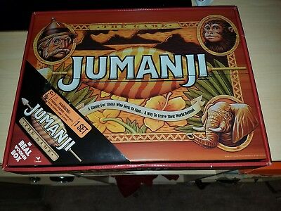 Jumanji Board Game Real Wood Box Cardinal Edition 2017 Wooden Complete Full Size