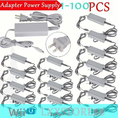 LOT 100 X AC Charger Home Power Supply Wall US Plug for Nintendo Wii U Gamepad Y