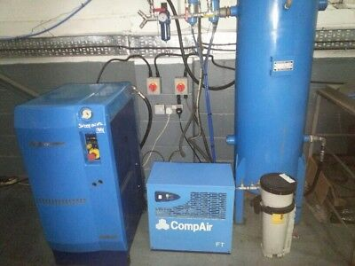 Hydrovane HV05 Compressor System. Pressure Tank. Air Dryer. Water Filter.