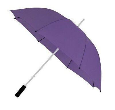 Large Golf Umbrella with Windproof Spring and Double Strength Ribs - Purple