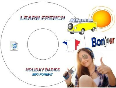 Learn How To Speak French Language On Mp3 Audio Cd Use In Car / Pc / Mp3 Player